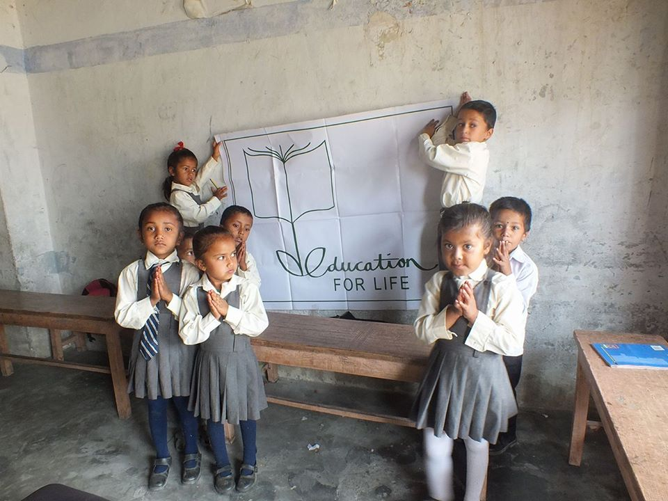 New library books to Shree Harishiddhi Primary school-Pokhara Nepal