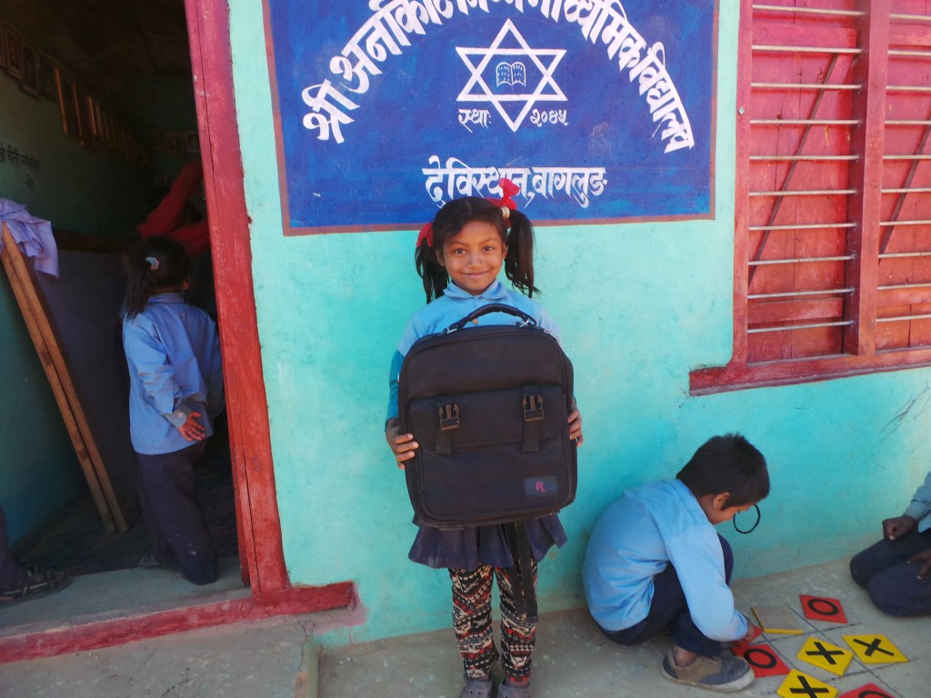 School uniform distribution to Shree Arnakot Lower secondary school