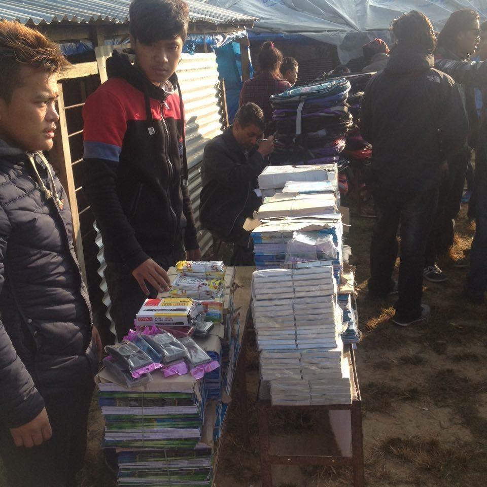 Distrubution of books, stationaries and schoolbags to Shree Tara Chandra Ma Bi School in Gorkha.