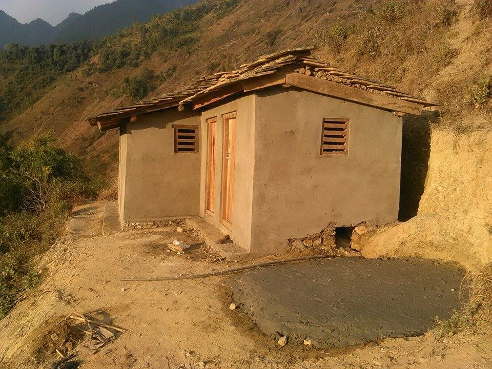 Toilet in Huldi completed.
