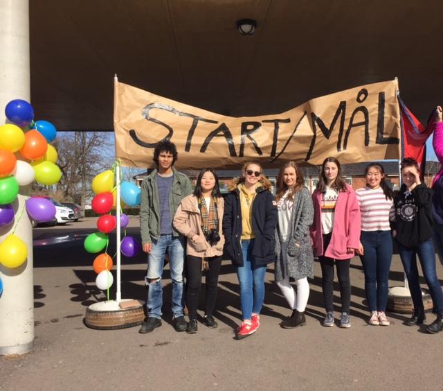 Great effort at Borre Secondary school in Horten, Norway