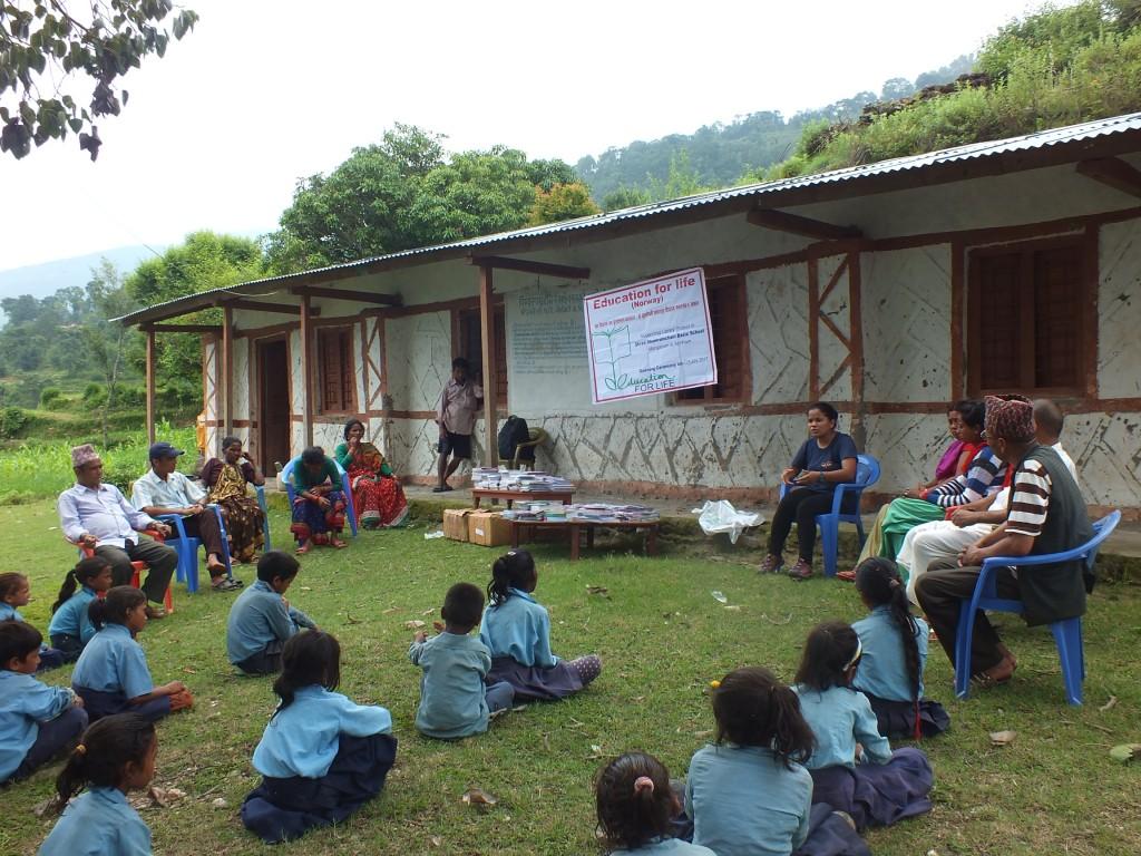 4 schools receives books in far west Nepal